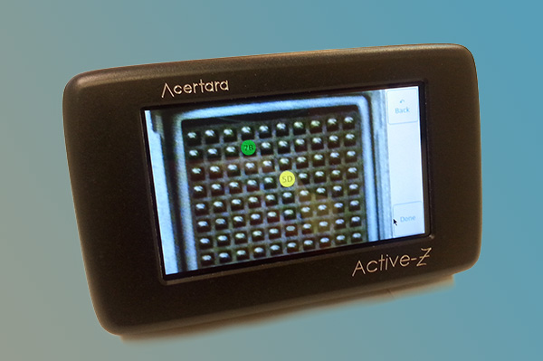 Highlighted pins inform the user which pins should be tested.